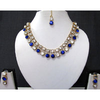 Blue Stone Necklace Set