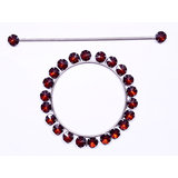 Shop 24x7-Beautiful Crystal Stone  Round Shape Curtain Lock -Coffee (Set Of 2)