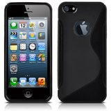 Rka S Line Tpu Gel Silicone Rubber Soft Case Cover Skin For Iphone 5 5G Black
