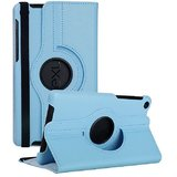 Rka 360 Degree Rotating Smart Leather Case Cover For Google Nexus 7 Tablet 2Nd Gen 2013 Light Blue