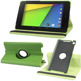 Rka 360 Degree Rotating Smart Leather Case Cover For Google Nexus 7 Tablet 2Nd Gen 2013 Green