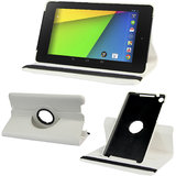 Rka 360 Degree Rotating Smart Leather Case Cover For Google Nexus 7 Tablet 2Nd Gen 2013 White
