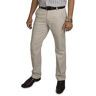 Kanva Off-White Men's Cotton Pants