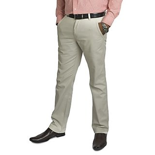 Kanva Cream Men's Cotton Pants