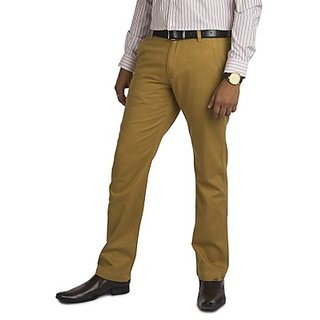 Kanva Brown Men's Cotton Pants