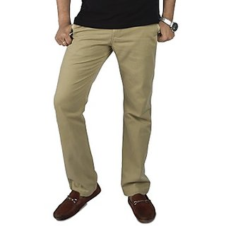 Kanva Beige Men's Cotton Pants