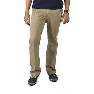 Kanva Dark Beige Men's Cotton Pants
