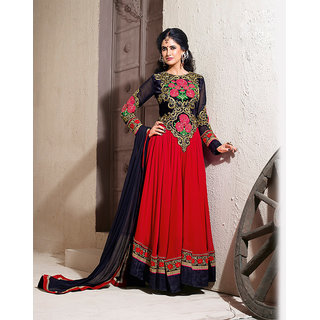 Red Anarkali Salwar Kameez Suit