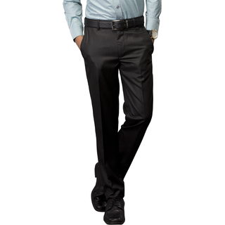 Kanva  Black Men's Formal Trouser