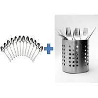 Buy Stainless Steel Spoon Stand & Get 12pcs Spoon Set Free