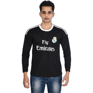 Real Madrid Black Full Sleeves Jersey