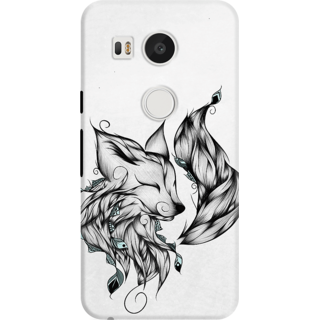 DailyObjects Fox Black and White Case For LG Google Nexus 5X