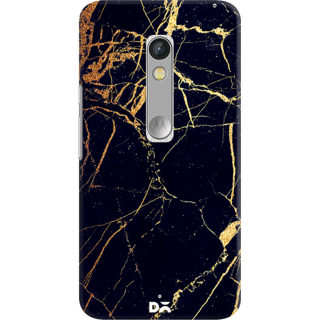 DailyObjects Black  Lava Marble Case For Motorola Moto X Play