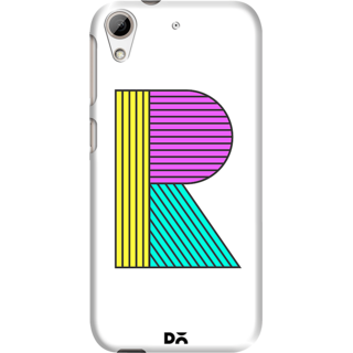 DailyObjects Stylised R Case For HTC Desire 626
