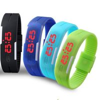 Led Digital Jelly 4 Multi Wristwatch With Magnet Lock