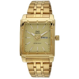 QQ Shogun Analog Gold Dial Mens Watch