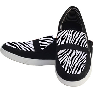Hand Painted Zebra Pattern Shoes