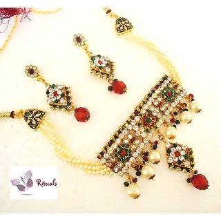 Beautiful Ethnic Choker Necklace Set
