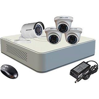 Hikvision HDTVI Combo,  HDTVI DS-2CE56COT-IRP Dome Camera 3Pcs+ DS2CE16COTIR Bullet 1Pcs + HD Mini DVR 4 DS-7104HWI-SH