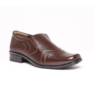 Foster Blue Brown Men's Formal Stylish Shoes - Option 1