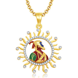 Sukkhi Shivaji Maharaj Gold And Rhodium Plated CZ Pendant For Women