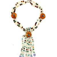 Multicolour Crystal Precious Necklace, Crystal Precious Necklace, Precious Necklace