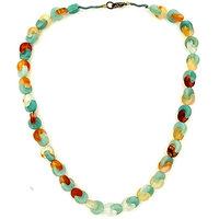Multicolour Flatstone Necklace, Multi Color Flat Stone Necklace, Flat Stone Necklace, Stone Necklace