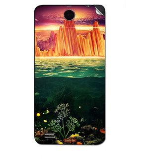 Instyler Mobile Skin Sticker For Lenovo A590 MSLENOVOA590DS-10152