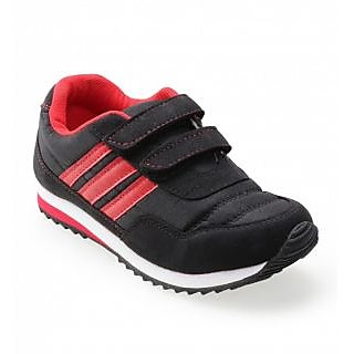 Advice Boys BlkRed Canvas Shoes Choclate-02