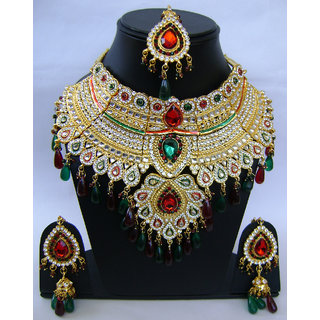 Indian Wedding Bridal Jewellery Necklace Set. NP-407