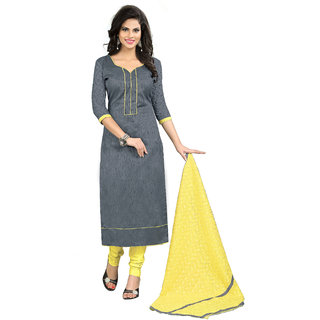 Lovely Look Grey Printed Un-Stitched Straight suit LLKKFBRCFS1008