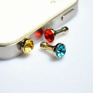 20 Pieces Luxury Diamond Earphone Anti Dust Plug Cap For Any 3.5mm Mobile
