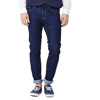 denium Jeans Blue Cotton in Regular Fit