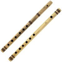Sg Musical Indian Bamboo Flute C Transverse And Fipple High Frequency Notes Set Of 2