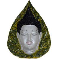 Madg Vastu Fangshui Religious Idol Of Buddha Leaf Face 3D Premium Statue Showpiece (POL001RIDBUD-00348)
