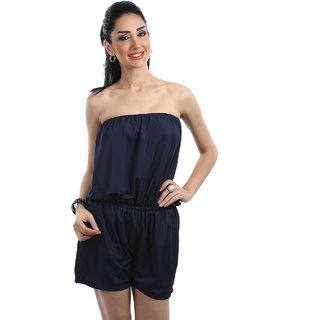 Blue Plain Bodycon Dresses