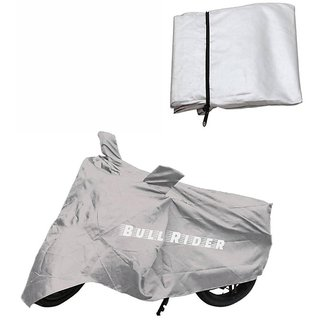 Bull Rider Two Wheeler Cover For Bajaj Platina 100 Es With Free Microfiber Gloves