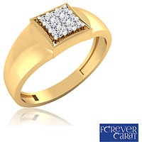 0.20ct Certified Natural Diamond Mens Ring 14K Hallmarked Gold Ring GR-0005