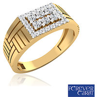 0.44ct Certified Natural Diamond Mens Ring 14K Hallmarked Gold Ring GR-0009