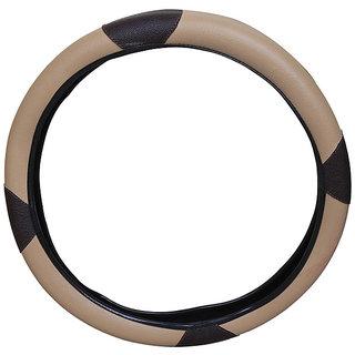 PegasusPremium Quanto BeigeBlack Steering Cover