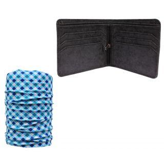 sushito Crazy Star Mens Wallet With Multi Use Bandana JSMFHWT0518-JSMFHMA0561