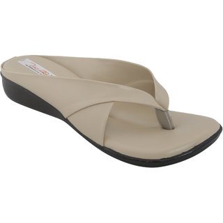 Zachho Women Cream Slippers (HC180-Cream)