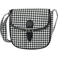 Lychee Bags Women Canvas Myra Sling Bag (LB19GGB, Black, White)