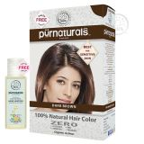 Purnaturals Dark Brown 100 Natural Hair Colour 10114 Kit