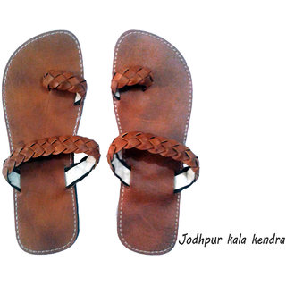 Indian Rajasthani Pure Leather Mojri,Men's Sandal,Handmade.India Size 9