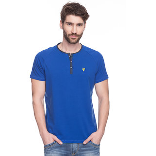 Spykar Blue Slim Fit Tshirts
