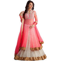 Multicolor Net Embroidered Anarkali Suit For Women
