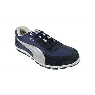 JerryMouse.in Mens Navy Blue Leather Sports Shoe - MSPO0008