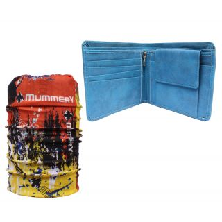 Sushito Daily Use Casual Mens Wallet With Multi Use Bandana JSMFHWT0510-JSMFHMA0567