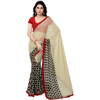 Sareemall Multi Georgette Lace Border Saree with Unstitched Blouse 9S5106
